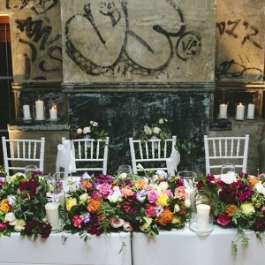 Colorful Wedding Head Table