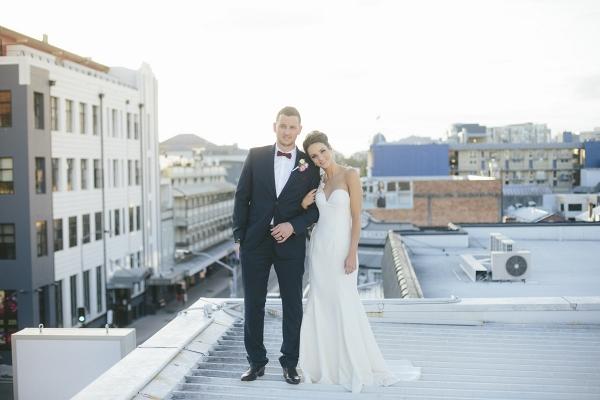 Newlyweds On Rooftop