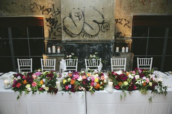Colorful Wedding Head Table