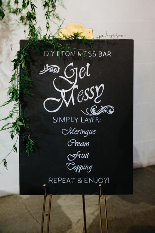DIY Eton Mess Sign