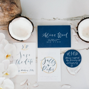 Coastal wedding invitation