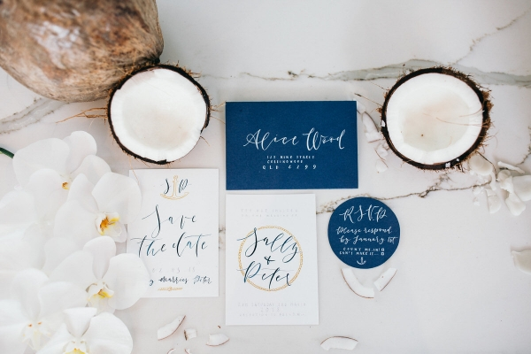 Coastal wedding invitation
