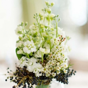 White & Black Floral Arrangement