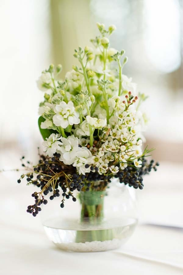 White & Black Floral Arrangement