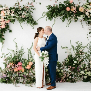 Floral ceremony backdrop