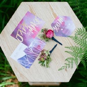 Watercolour Wedding Invitations