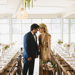 Glam gold wedding dress