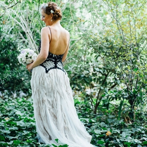 Black & Gray Wedding Dress