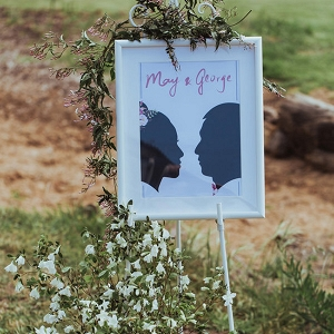 Silhouette Wedding Sign