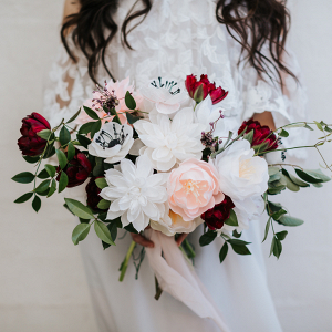 White and red bouquet