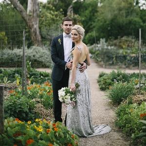 Newlyweds In Heide Kitchen Garden