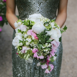Pink, Green & White Bouquet