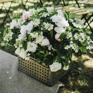 Metal Box Floral Arrangement