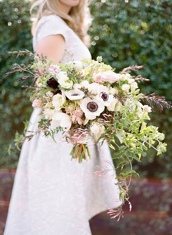 Loose Green And Pink Bouquet