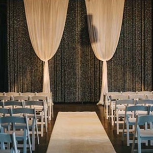 Glam Industrial Wedding Ceremony