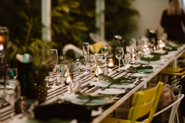 Minimalist wedding reception