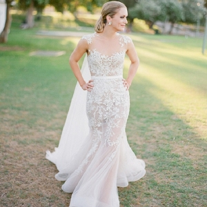 Bride Wearing  Paolo Sebastian