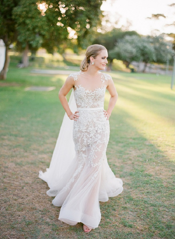 Bride Wearing  Paolo Sebastian