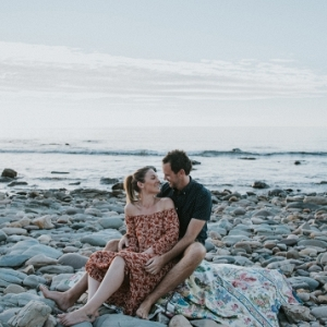Moody Seaside Engagement Photos
