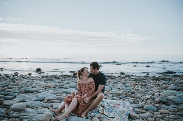 Moody Seaside Engagement Photos