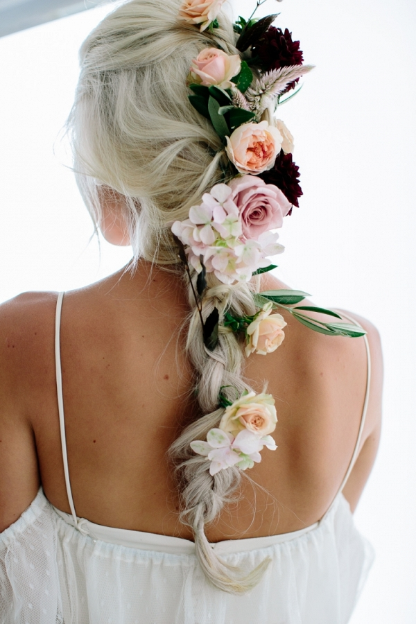 Braid With Flowers