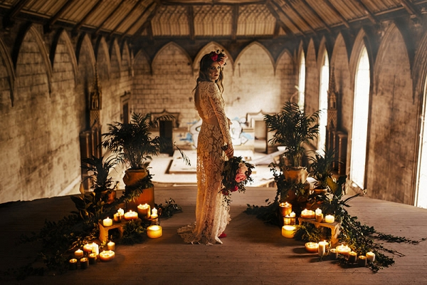 Bride With Candlelit Ceremony