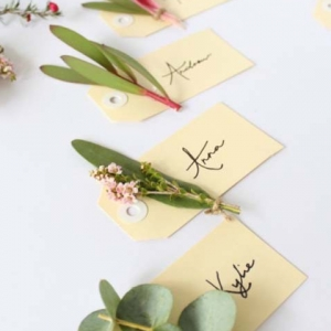 Native Flower Placecards