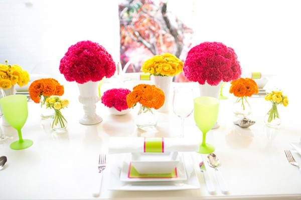 Neon Wedding Tablescape