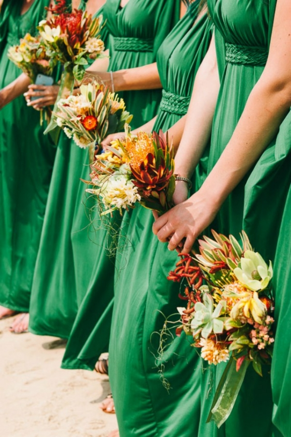 Emerald Green Bridesmaid Gowns