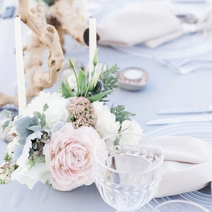 Pastel Beach Wedding Tablescape
