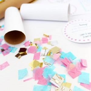 Make your own confetti thower