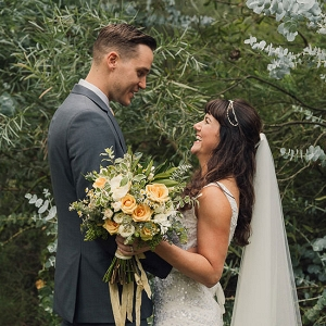 Peach & Apricot Garden Wedding