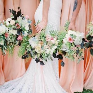 Bridesmaids In Peach
