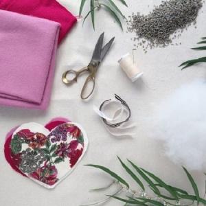 Fabric Lavender Hearts Tutorial
