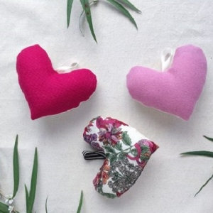 Fabric Lavender Hearts Tutorial