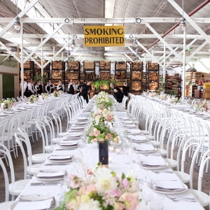 White Wedding In Industrial Setting