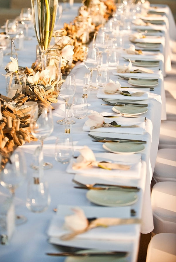 Long Table With Driftwood