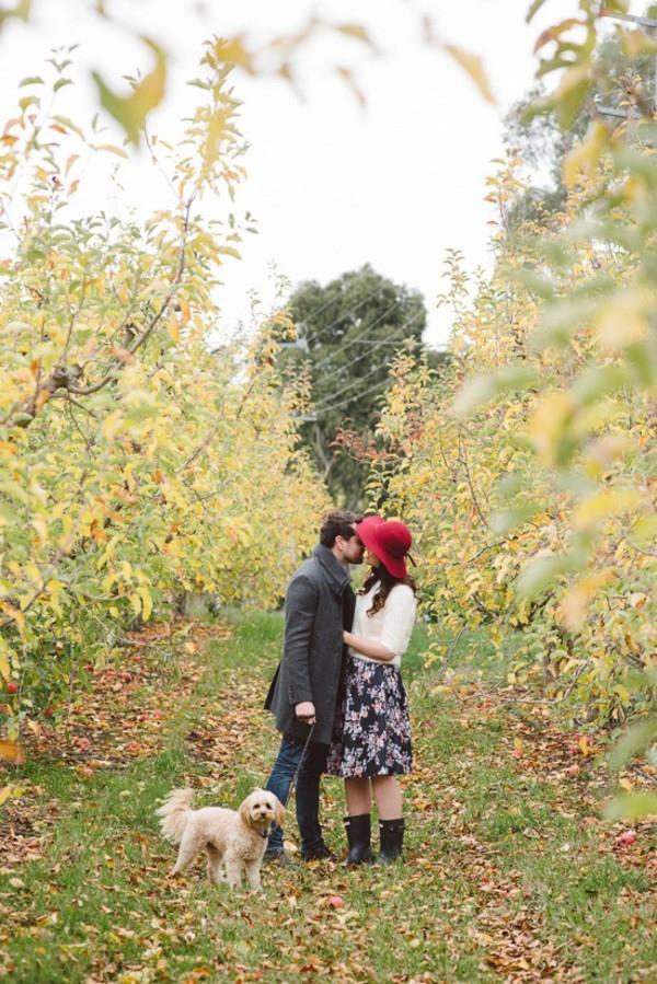 Orchard Engagement Photo