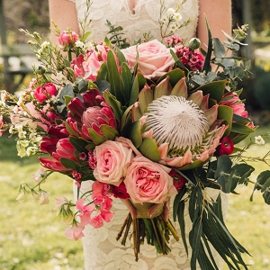 Wedding Bouquet With Proteas