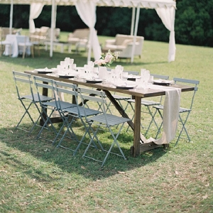 Garden Party Reception Table