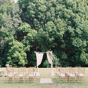 Garden Party Inspired Wedding Ceremony Decor