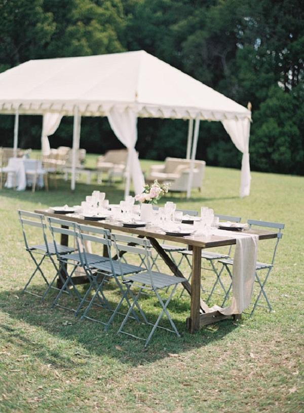 Garden Party Reception Table