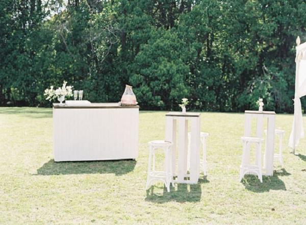 Garden Party Wedding Cocktail Bar