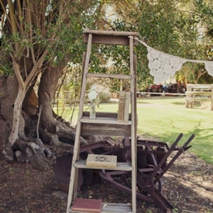 Wooden Ladder Wedding Ceremony Decor