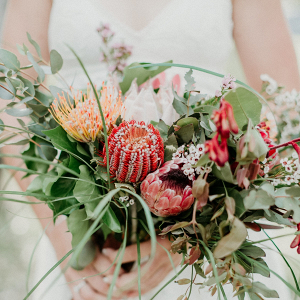Protea bridal bouquet