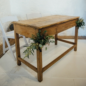 Wooden Ceremony Signing Table
