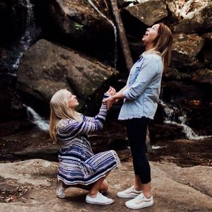 LGBT proposal at waterfalls