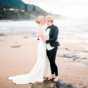 Romantic same-sex Australian wedding
