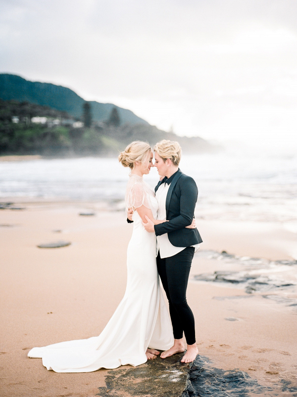 Romantic same-sex Australian wedding