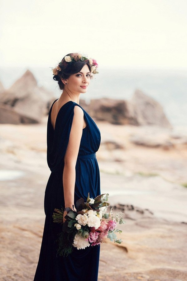 Bride On Cliff During Engagement Session